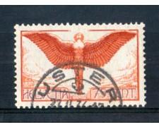 1924 - LOTTO/SVIA11AU - SVIZZERA - 75c. POSTA AEREA ICARO - USATO
