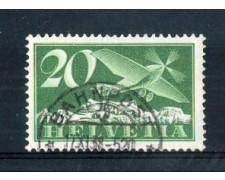 1923 - LOTTO/SVIA4AU - SVIZZERA - 20c. POSTA AEREA - USATO