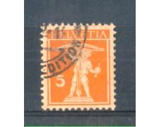 1916 - LOTTO/SVI159U - SVIZZERA - 5c. ARANCIO SU CAMOSCIO - USATO