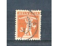 1916 - LOTTO/SVI158U - SVIZZERA - 3c. GIALLO BRUNO - USATO