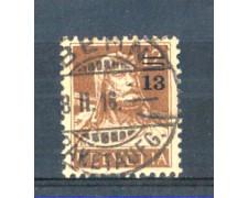 1915 - LOTTO/SVI147U - SVIZZERA - 13 SU 12c. BISTRO - USATO