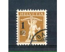 1915 - LOTTO/SVI145U - SVIZZERA - 1 su 2c. BISTRO OLIVA - USATO