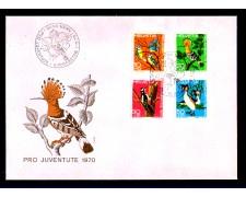 1970 - LOTTO/SVI871FDC - SVIZZERA - PRO JUVENTUTE 4v. - BUSTA FDC