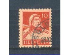 1914 - LOTTO/SVI138U - SVIZZERA - 10c. ROSSO - USATO