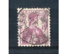 1909 - LOTTO/SVI133U - SVIZZERA - 15c. LILLA - USATO