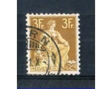 1908 - LOTTO/SVI127U - SVIZZERA - 3 Fr. BISTRO GIALLO - USATO