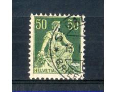 1908 - LOTTO/SVI124U- SVIZZERA - 50c. VERDE - USATO