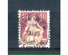 1908 - LOTTO/SVI123U - SVIZZERA - 40c. PORPORA I° TIPO - USATO