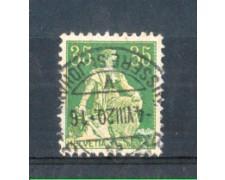 1908 - LOTTO/SVI122U - SVIZZERA - 35c. VERDE E GIALLO - USATO