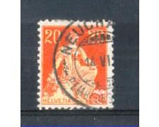 1908 - LOTTO/SVI119U - SVIZZERA - 20c. ROSSO E GIALLO - USATO