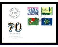 1970 - LOTTO/SVI867FDC - SVIZZERA - PROPAGANDA 4v. - BUSTA FDC