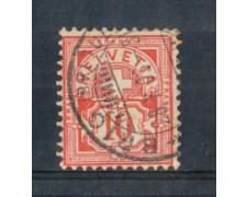1882 - LOTTO/SVI67U - SVIZZERA - 10c. ROSSO - USATO