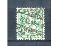 1882 - LOTTO7SVI66U - SVIZZERA - 5c. VERDE  - USATO