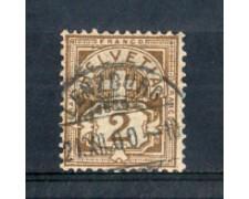 1882 - LOTTO/SVI63U - SVIZZERA - 2c. BISTRO - USATO