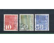 1970 - LOTTO/SVI863CPU - SVIZZERA - CIFRA 3v. - USATI