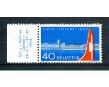 1953 - LOTTO/SVI536N - SVIZZERA - 40c. AEROPORTO DI ZURIGO - NUOVO