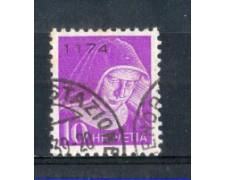 1935 - LOTTO/SVIFR14ABU - SVIZZERA - 10c. FRANCHIGIA - USATO