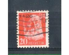 1935 - LOTTO/SVIFR15AAU - SVIZZERA - 20c. FRANCHIGIA - USATO
