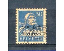 1924 - LOTTO/SVIS54U - SVIZZERA - 30c. SOCIETE' DES NATIONS - USATO