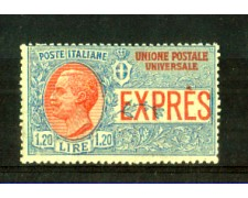 1922 - LOTTO/REGEX8N - REGNO - 1,20 ESPRESSO NON EMESSO  - NUOVO
