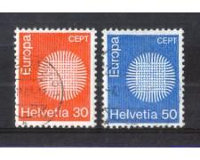 1970 - LOTTO/SVI856CPU - SVIZZERA - EUROPA 2v. - USATI