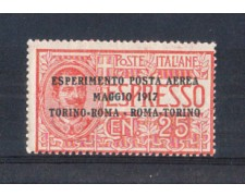 1917 - LOTTO/REGA1N - REGNO - POSTA AEREA TORINO/ROMA - NUOVO