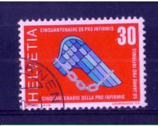 1970 - LOTTO/SVI851U - SVIZZERA - 30c. PRO INFIRMIS - USATO