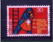 1970 - LOTTO/SVI852U - SVIZZERA - 30c. SOC. POMPIERI - USATO