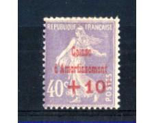 1928 - LOTTO/FRA249L - FRANCIA - +10 SU 40c. CASSA D'AMMORTAMENTO  - LING.