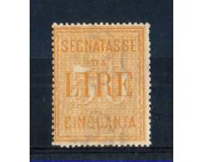 1903 - LOTTO/REGT31L - REGNO - 50 LIRE GIALLO SEGNATASSE - LING.