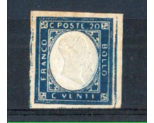 1861 - LOTTO/10439 - REGNO - 20c. INDACO - LING.