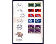 1970 - LOTTO/SVI1854FDCQ - SVIZZERA - PROPAGANDA 4v. QUARTINE - BUSTE FDC
