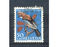 1969 - LOTTO/SVI849U - SVIZZERA - 50+20c. PRO JUVENTUTE - USATO