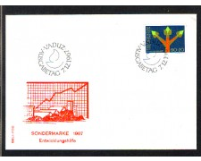 1967 - LOTTO/LIE433FDC - LIECHTENSTEIN - 50+20r. ASSISTENZA ONU - BUSTA FDC
