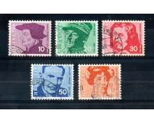 1969 - LOTTO/SVI845CPU - SVIZZERA - PERSONAGGI FAMOSI 5v. - USATI