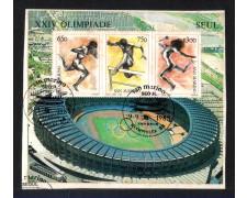 1988 - LOTTO/8088U - SAN MARINO - OLIMPIADI DI SEUL  FOGLIETTO - USATO