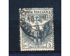 1915/16 - LOTTO/REG103U - REGNO - 15+5c. CROCE ROSSA - USATO