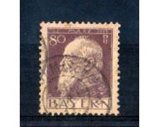 BAVIERA - 1911 - LOTTO/5173 - 80p. VIOLETTO  I° TIPO - USATO