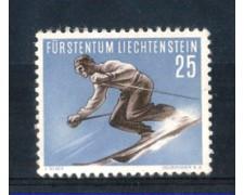 1955 - LOTTO/3804N - LIECHTENSTEIN - 25R. SCI DISCESA - NUOVO