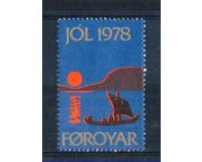 1978 - LOTTO/3292 - FAEROER - CHIUDILETTERA DI NATALE - NUOVO