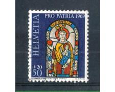 1969 - LOTTO/SVI837U - SVIZZERA - 50+20c. PRO PATRIA - USATO