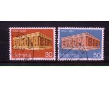 1969 - LOTTO/SVI833CPU - SVIZZERA - EUROPA 2v. - USATI