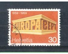 1969 - LOTTO/SVI832U - SVIZZERA - 30c. EUROPA - USATO