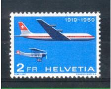 1969 - LOTTO/SVIA46N - SVIZZERA - 2 Fr. PRO AEREO - NUOVO