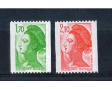 1984 - LOTTO/FRA2324CPN - FRANCIA -  LIBERTA' 2v. DA ROTOLI - NUOVI