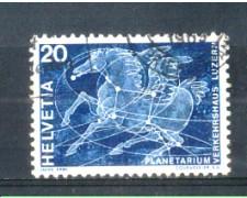 1969 - LOTTO/SVI829U - SVIZZERA - 20c. PLANETARIO - USATO