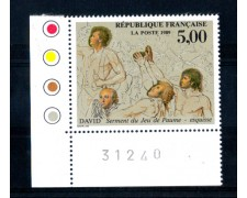 1989 - LOTTO/FRA2582N - FRANCIA - 5 Fr. J.LOUIS DAVID QUADRO - NUOVO