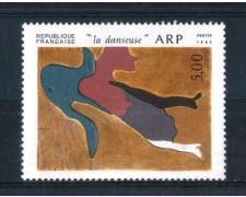 1986 - LOTTO/FRA2443N - FRANCIA - 5 Fr. JEAN ARP - NUOVO