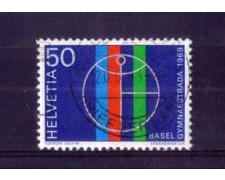1969 - LOTTO/SVI831U - SVIZZERA - 50c. GIMNAESTRADA - USATO