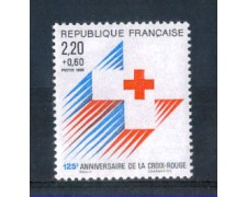 1988 - LOTTO/FRA2549N - FRANCIA - PRO CROCE ROSSA - NUOVO